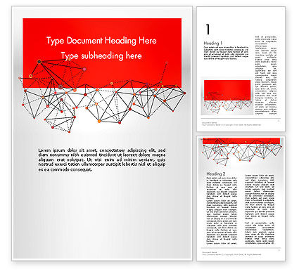 Polygonal Connections Word Template, 13802, Business — PoweredTemplate.com