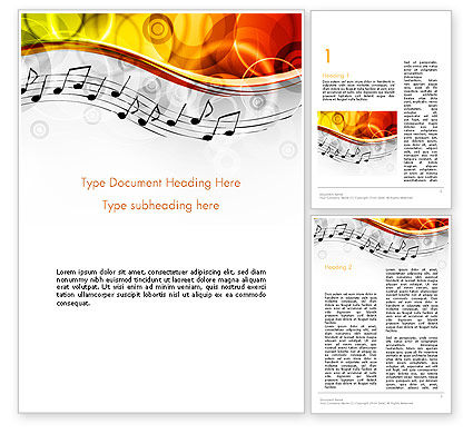 Classical Music Word Template