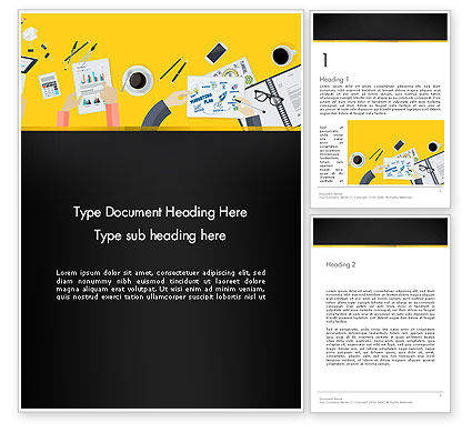 Business: Office Meeting Top View Word Template #13808