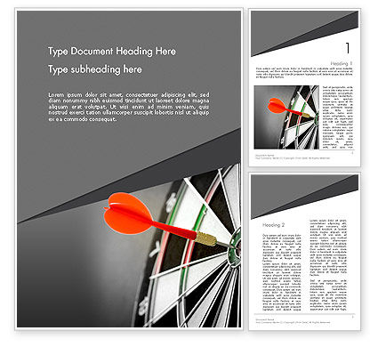 Perfect Hit Word Template, 13812, Consulting — PoweredTemplate.com