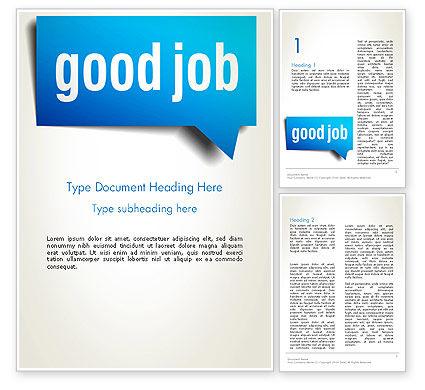Careers/Industry: Good Job Word Template #13813