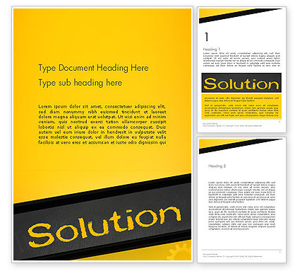 Business Concepts: Solution Word Template #13815