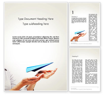 New Issue Concept Word Template, 13816, Business Concepts — PoweredTemplate.com
