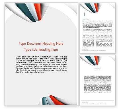 Strips Through the Paper Word Template, 13820, Business — PoweredTemplate.com