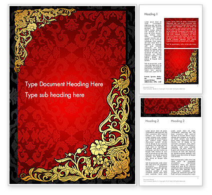 Elegant Pattern Invitation Word Template, 13834, Holiday/Special Occasion — PoweredTemplate.com