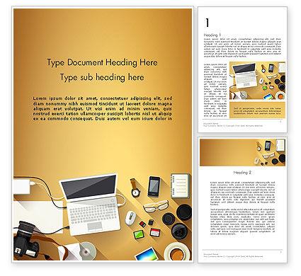 Digitizing Photos Word Template, 13836, Careers/Industry — PoweredTemplate.com