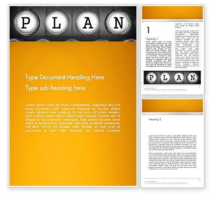 Business: Types of Planning Word Template #13855