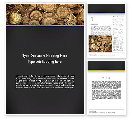 Digital Currency Word Template, 13856, Financial/Accounting — PoweredTemplate.com