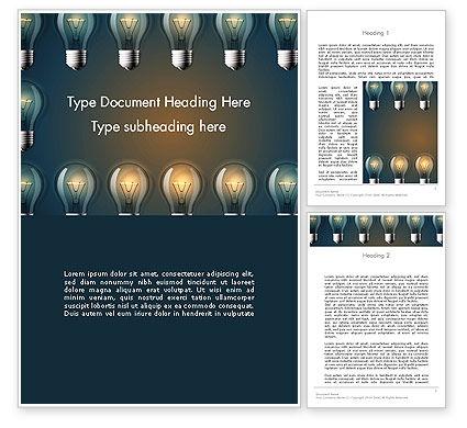 Technology, Science & Computers: Plantilla de Word - marco de la lámpara #13873