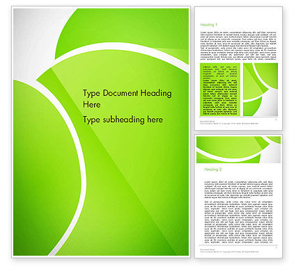 Abstract/Textures: Green Flat Petals Abstract Word Template #13882