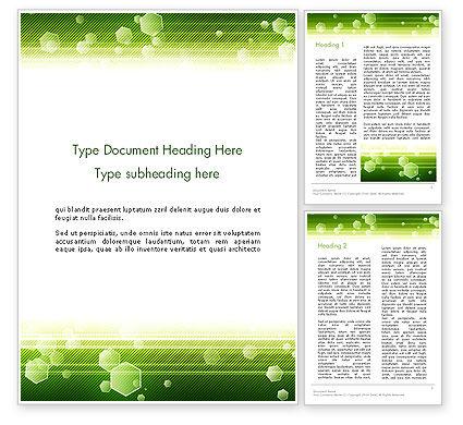 Abstract/Textures: Modèle Word de fond vert technique avec hexagones #13893