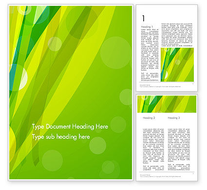 Abstract/Textures: Green Stemming Abstract Word Template #13895