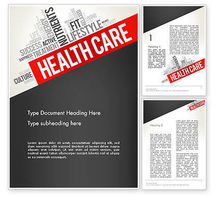 Health Care Word Cloud Word Template, 13896, Medical — PoweredTemplate.com