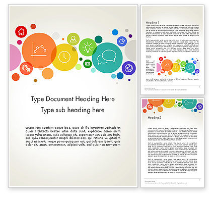 Descriptive Circles Word Template, 13897, Business — PoweredTemplate.com