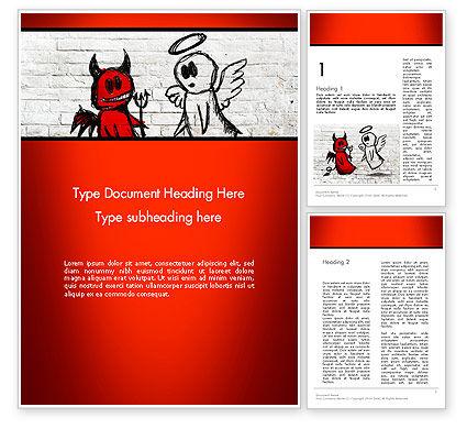 Moral Dilemma Word Template, 13902, Religious/Spiritual — PoweredTemplate.com