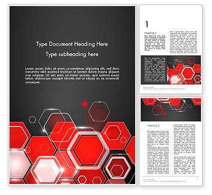 Abstract/Textures: Templat Word Red Hexagons Abstrak Kata Templat #13908