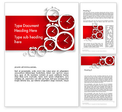 Clock Faces Word Template, 13911, Business Concepts — PoweredTemplate.com