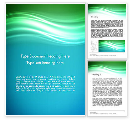 Abstract/Textures: Flowing Waves Word Template #13912