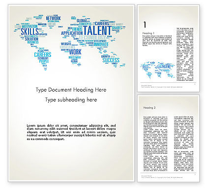 Careers/Industry: Recruiting Word Cloud Word Template #13913