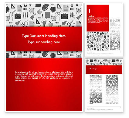 Education & Training: Seamless School Pattern Word Template #13925