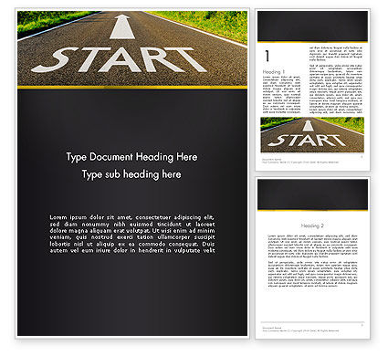 The Way Forward Word Template, 13937, Business Concepts — PoweredTemplate.com