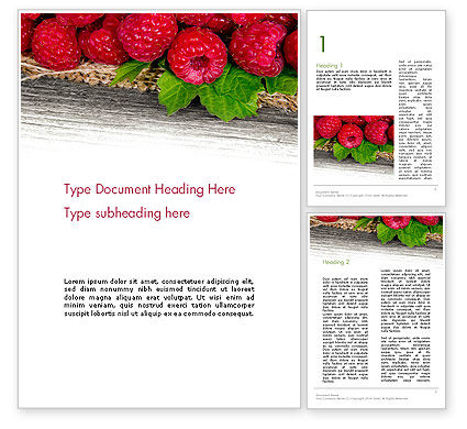 Red Raspberry Word Template