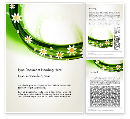Spring Flowers Word Template, 13942, Nature & Environment — PoweredTemplate.com