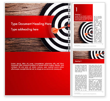Dart Hitting Target Word Template, 13947, Business Concepts — PoweredTemplate.com