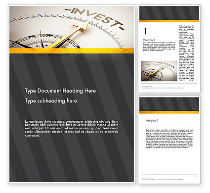 Invest Indicator Word Template, 13952, Financial/Accounting — PoweredTemplate.com