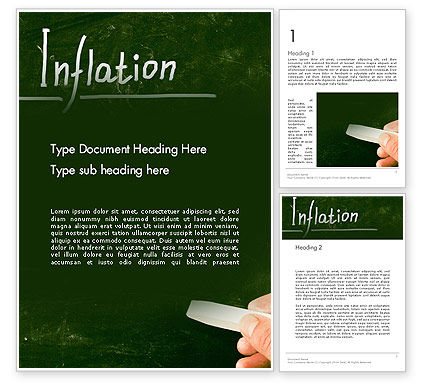 Inflation Lettering Word Template