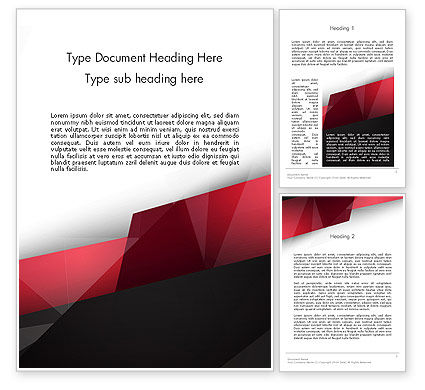 Abstract/Textures: Low Polygons Abstract Word Template #13963