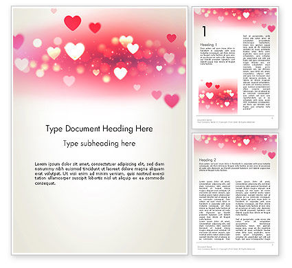 Holiday/Special Occasion: Pink Valentijnsdag Word Template #13973