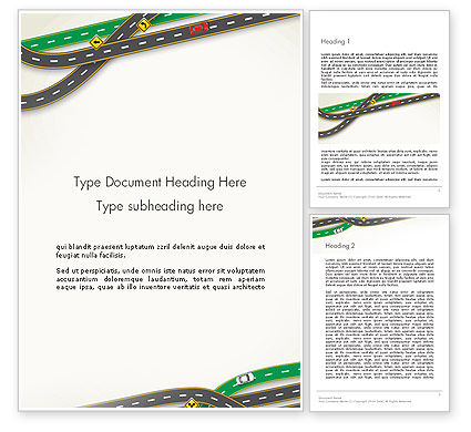 Road Traffic Word Template, 13976, Cars/Transportation — PoweredTemplate.com