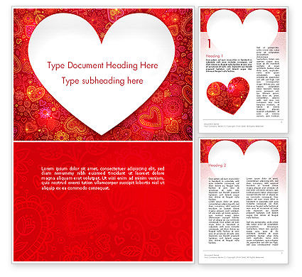 Love Frame Word Template, 13980, Holiday/Special Occasion — PoweredTemplate.com