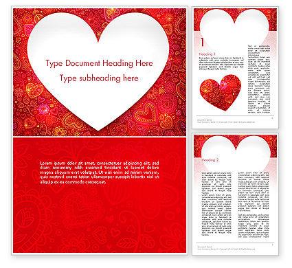 Holiday/Special Occasion: Plantilla de Word - marco de amor #13980