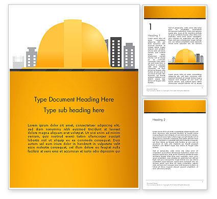 Constructing Theme Word Template, 13982, Construction — PoweredTemplate.com