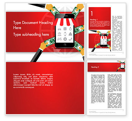Careers/Industry: Online Mobile Purchases Word Template #13983