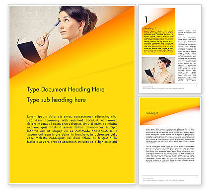Memorizing Word Template, 13985, Education & Training — PoweredTemplate.com