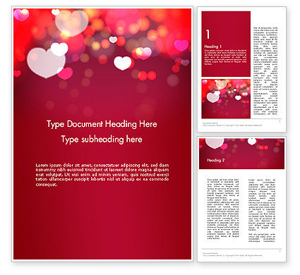 Love Pink Word Template, 13989, Holiday/Special Occasion — PoweredTemplate.com