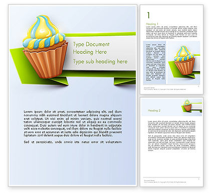 Birthday Banner Word Template, 13992, Holiday/Special Occasion — PoweredTemplate.com