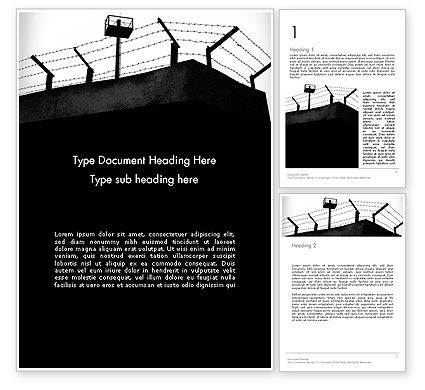 Legal: Barbed Wire Fence Word Template #13993