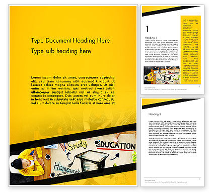 Education & Training: Studying Homework Word Template #13994