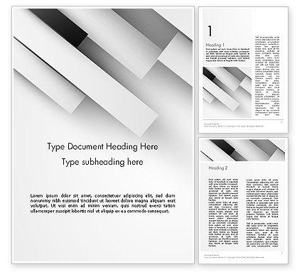 Abstract/Textures: Plantilla de Word - tiras rectangulares blancas #14001