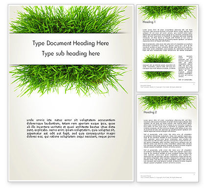 Grass Patch Word Template