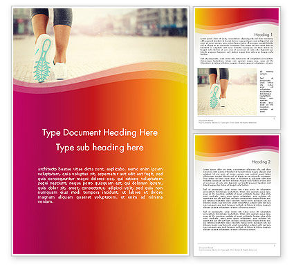 Legs Of Jogging Woman Word Template, 14015, Sports — PoweredTemplate.com