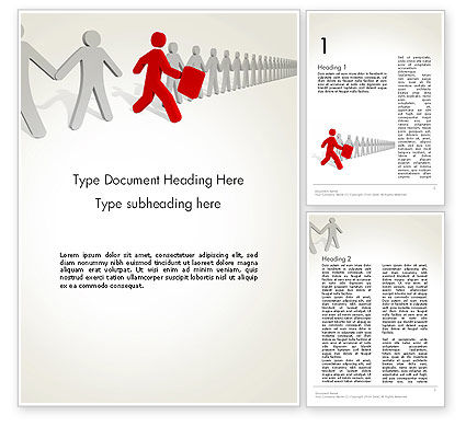 Proactive Leadership Word Template, 14041, Careers/Industry — PoweredTemplate.com