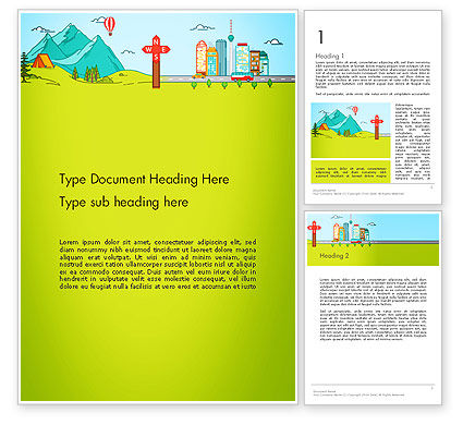 Traveling the Countryside Word Template