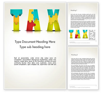 Tax Puzzle Word Template