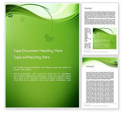Quatrefoil Word Template, 14079, Holiday/Special Occasion — PoweredTemplate.com