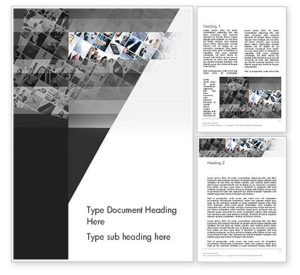 Tilted Photo Collage Word Template, 14080, Careers/Industry — PoweredTemplate.com